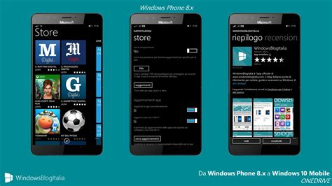 windows mobile store differenze tra windows phone 8 1 e windows 10 mobile