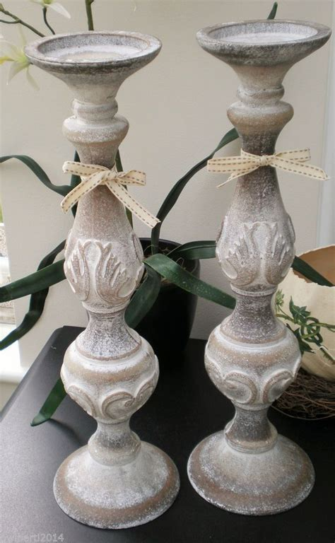 shabby chic candle sticks and shabby on pinterest