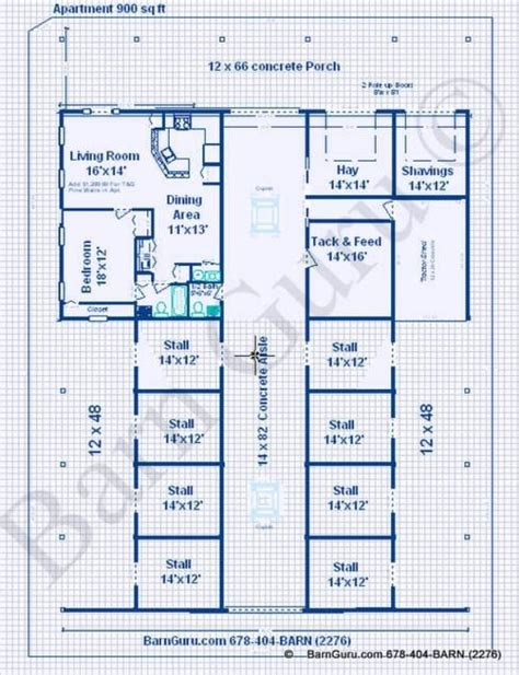 horse barn floor plans horse barns with living quarters stall horse barn with