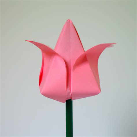 Easy Origami Paper Flowers - tulip flower origami try it like it create eat