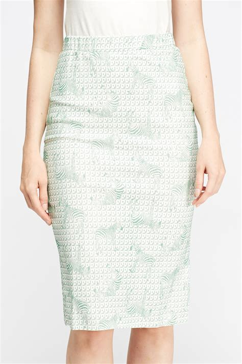 printed midi pencil skirt zebra print midi pencil skirt white mint just 163 5