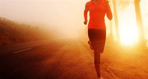 Sport Running sports running motion road sun morning
