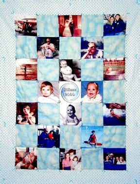 Custom Photo Quilts by Personalized Quilt Blocks Photo Quilt Blocks