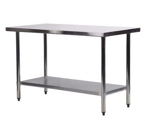 mesas de acero inoxidable para cocina mesa de trabajo para cocina de acero inoxidable de 24 x 48