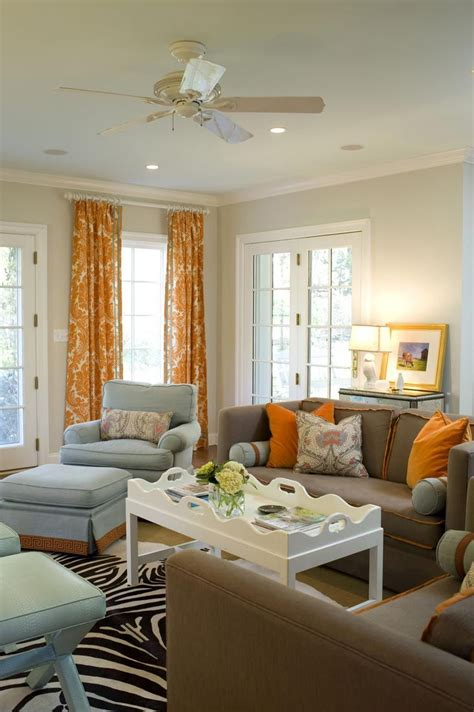 palmer weiss baltimore family room orange turquoise