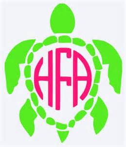Turtle monogram vinyl decal by pumpkinseasonshop on etsy