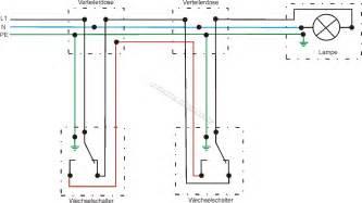 schaltplan wechselschalter mit 2 len schaltplan wechselschaltung aufbau und betrieb