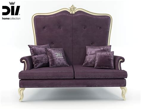 elegant couches high back classic elegant sofa by dv home 3d model max