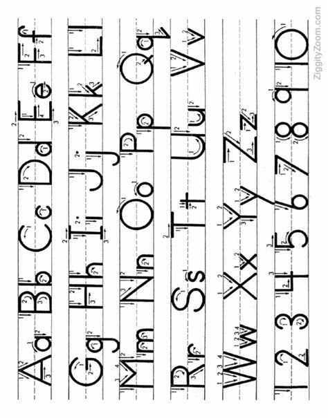 letters numbers handwriting tracing coloring free alphabet tracing page 26 letters upper lower case