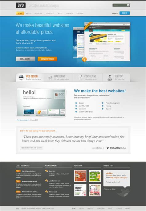 Tutorial Website Design | 36 high quality templates tutorials to design business