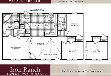 3 bedroom 2 bath double wide floor plans 3 bedroom modular home floor plans cottage house plans