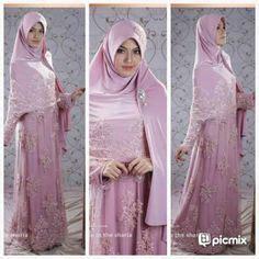 Royal Syari Mint gaun pengantin muslimah biru 8 busana pengantin