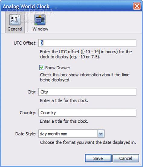 analog world clock download