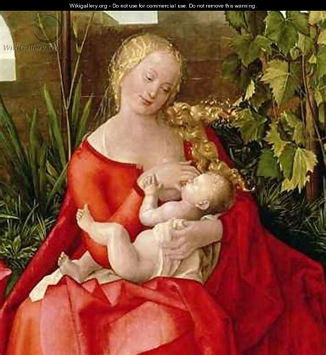 the red virgin and virgin and child madonna with the iris after durer or duerer albrecht wikigallery org