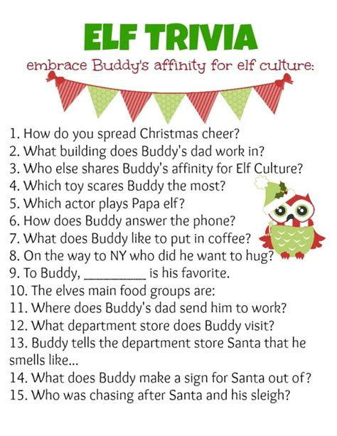 printable christmas quizzes for families elf holiday party ideas trivia elves and holidays