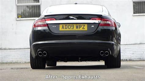 jaguar xfr exhaust jaguar xfr static standard performance exhausts