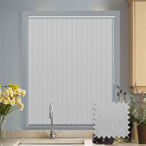 Onna Vertical Blinds Kain Blackout 127mm vertical blinds made to measure vertical blind in lapwing white blackout just blinds