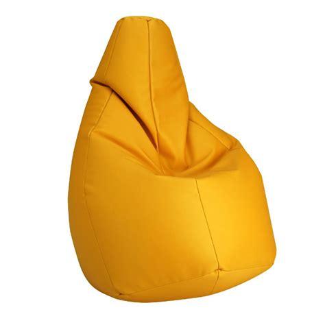poltrona zanotta zanotta poltrona anatomica sacco giallo ecopelle vip