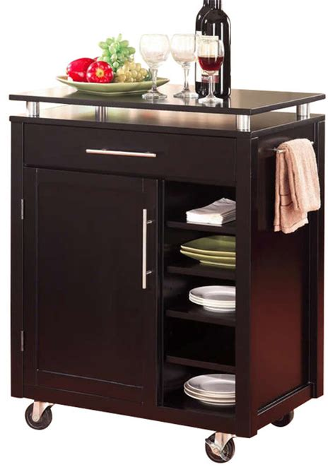 kitchen islands on casters coaster kitchen cart with 6 shelves and casters black