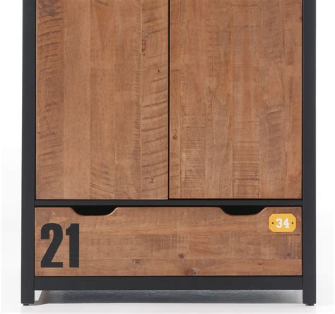 kleiderschrank 100 cm breit günstig kleiderschrank alex schrank mit 2 t 252 ren 100 cm braun