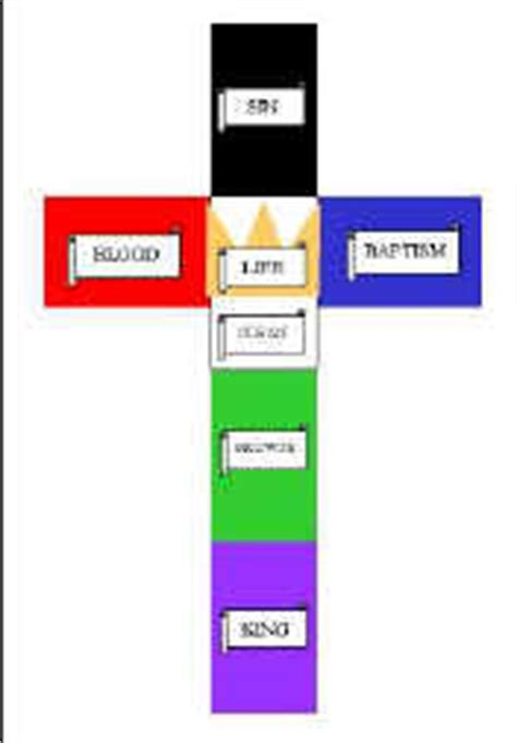 colored meaning jesus colors of cross