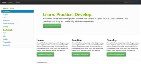 fluid layout in bootstrap bootstrap 布局 bootstrap 教程 自强学堂