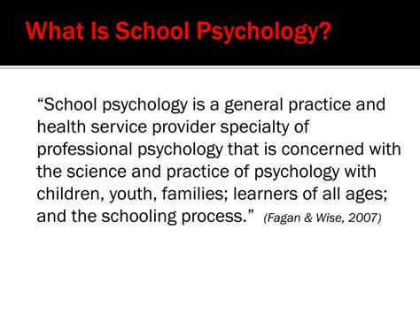 Psychology And The School ppt school psychology division 16 of apa powerpoint