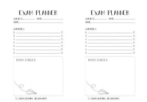 printable exam planner printable exam planner studying amino amino