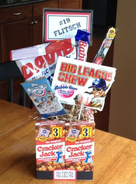christmas gifts for high school boys high school senior baseball gifts gifts banquet centerpieces cracker jacks and