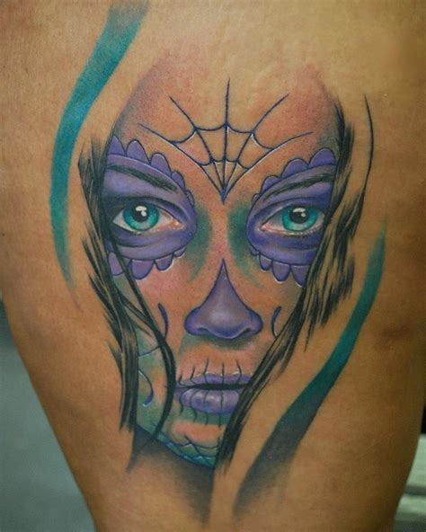 living art tattoo sioux city sugar skull quot day of the dead quot or dia de