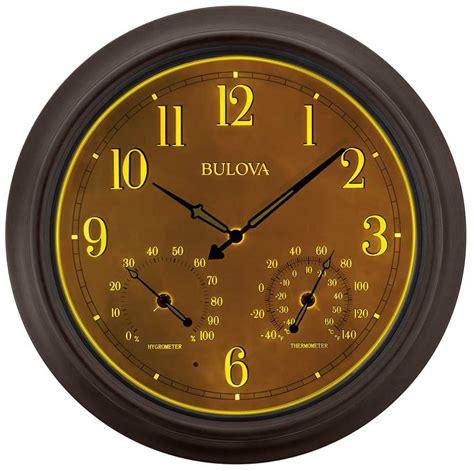 weather master wall clock  bulova   clocks