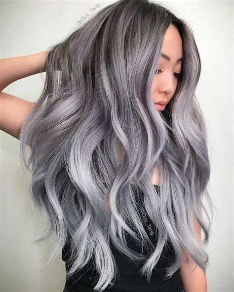 guy tang grey hair popular wig pink highlights aliexpress of smoke gray hair