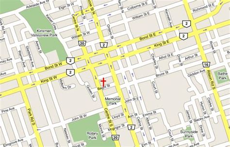 map of oshawa streets st george s
