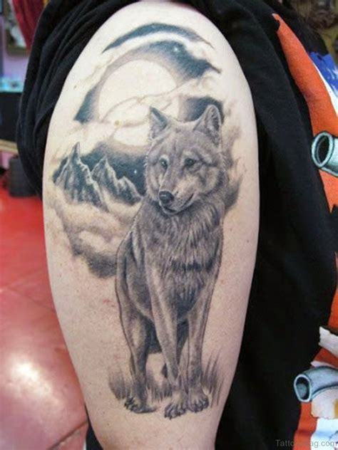 wolf and moon tattoo 50 amazing wolf tattoos for shoulder