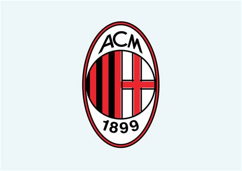 Kaos A C Milan Football Logo 4 Singlet Tanpa Lengan Tpl Acm15 Pria ac milan vector graphics freevector