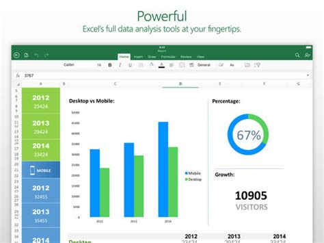Free Spreadsheet App Iphone by Microsoft Excel Screenshot