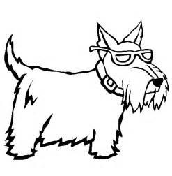 schnauzer puppy coloring page kolorowanki psy zwierzęta pies psy