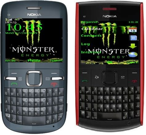 exo themes for nokia c3 00 monster energy theme for nokia c3 and x2 00 x2 01