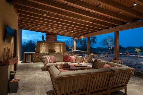 Covered Patio Lighting Outdoor Covered Patio Lighting Patio Southwestern With And White Stripes Exposed Rafters