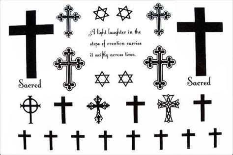 fake cross tattoos collection of 25 simple cross design for