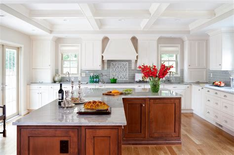 modern kitchen with red accent backsplash and island decoist granite island shapes kitchen contemporary with beige
