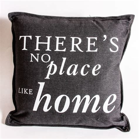 there s no place like home grey filled cushion harry
