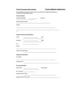 Client Information Form Template Free by Fact Sheet Template 15 Free Word Pdf Documents