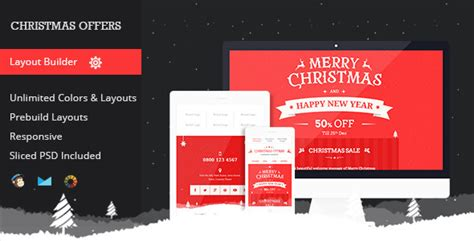 christmas offers responsive email template by mail1395