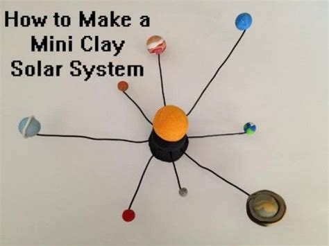 How To Make Paper Mache Planets - solar system projects mini clay paper mache and yarn