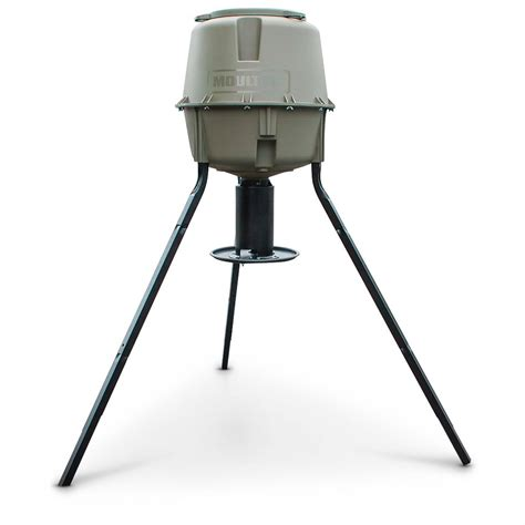 Moultrie Feeders moultrie dinner plate tripod deer feeder 30 gallon capacity 640334 feeders at sportsman s guide