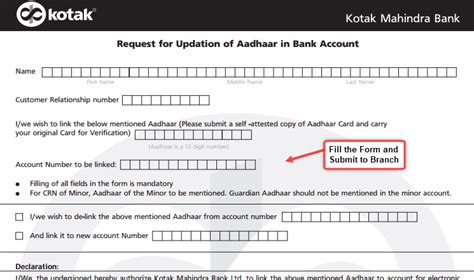 how to open account in kotak mahindra bank how to link aadhaar card with kotak mahindra bank account
