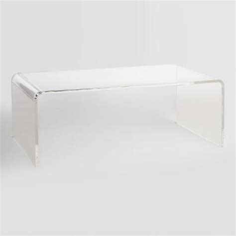 clear acrylic coffee tables clear acrylic thad coffee table world market