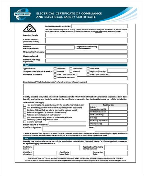 compliance form template image collections templates