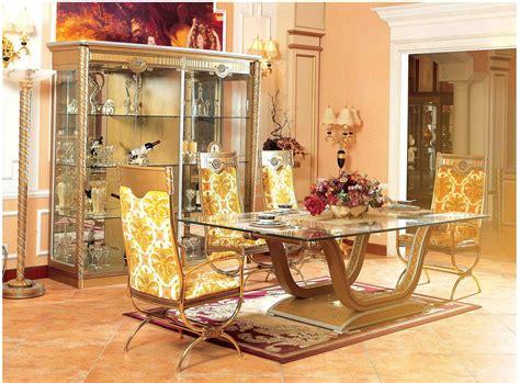 4 pc zeus european golden luxury bedroom set usa zeus european luxury dining set golden glass table top